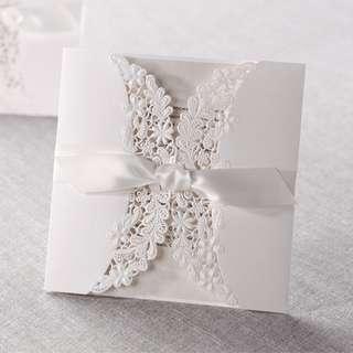 Premium Wedding Cards + customised insert card printing (Model: PM100-001)