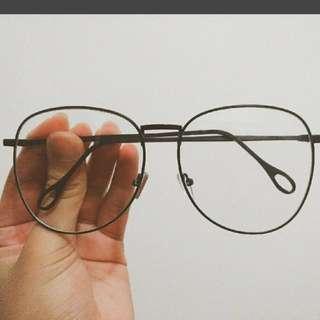 超大復古眼鏡框