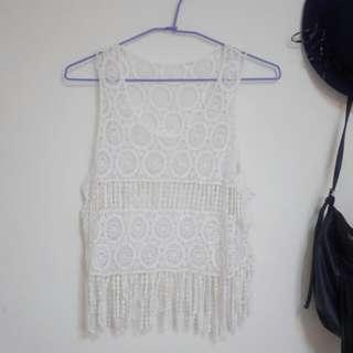 泰國買回白色罩衫