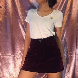 Velvet HW Skirt