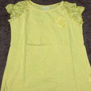 Tshirt Brokat Yellow
