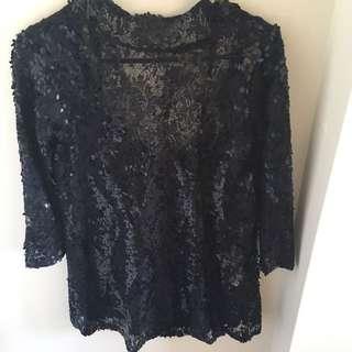 Zara Black Sequin Dress