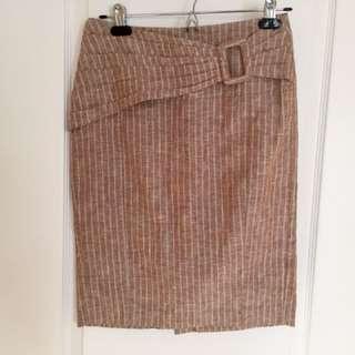 Le Chateau Linen Skirt Sz.3/4