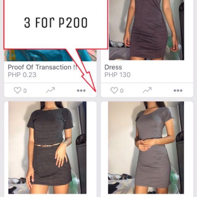 3 Dress For 200