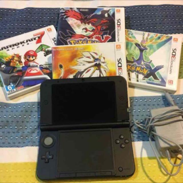 3DS XL 附四片遊戲