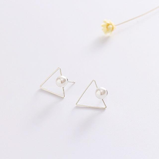 韓式珍珠極簡耳式