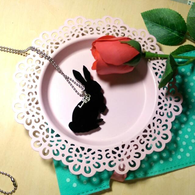 (免運)愛麗絲夢遊仙境長鍊-兔子款