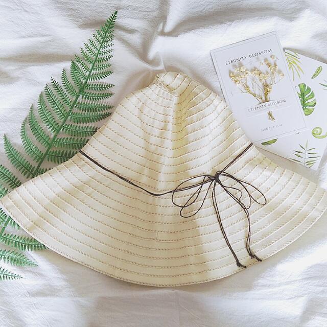 日本帶回,米色抗UV防曬遮陽帽,小清新風