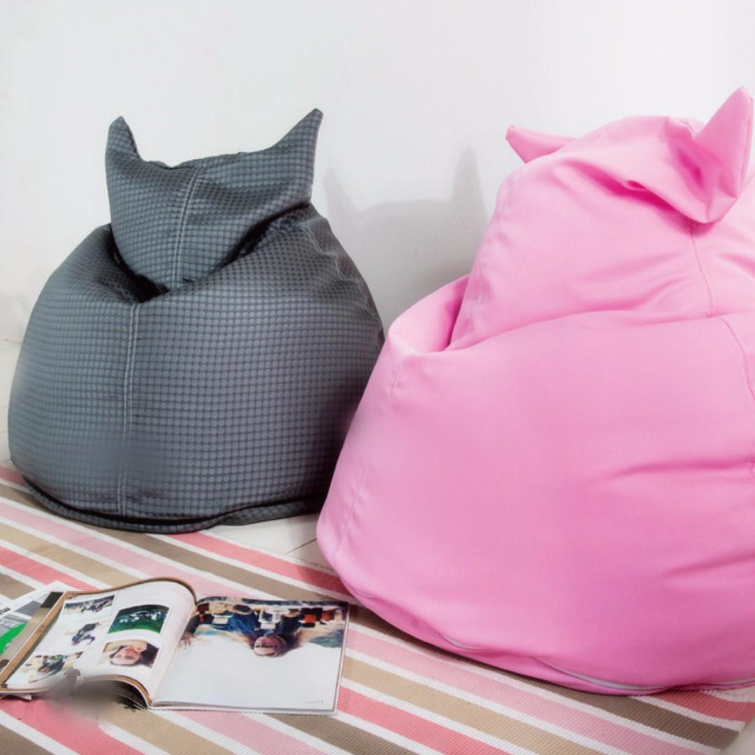 日系可愛貓咪造型懶人椅/沙發椅/和室椅/懶骨頭(多色任選)