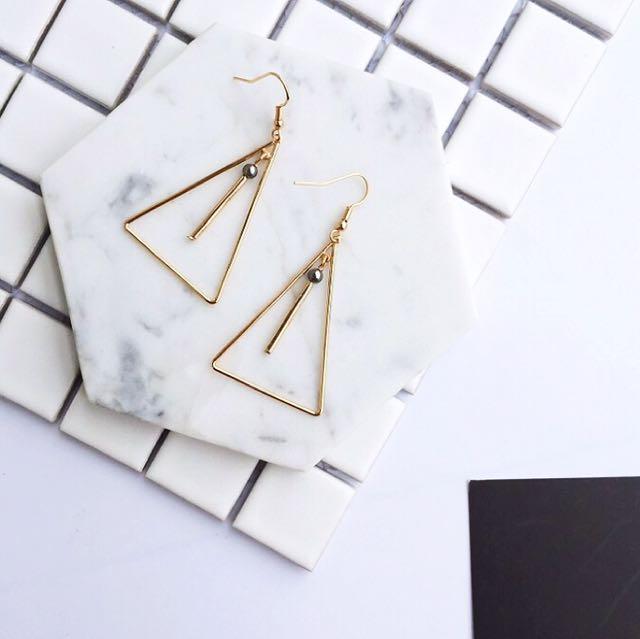 韓式超美大三角耳環