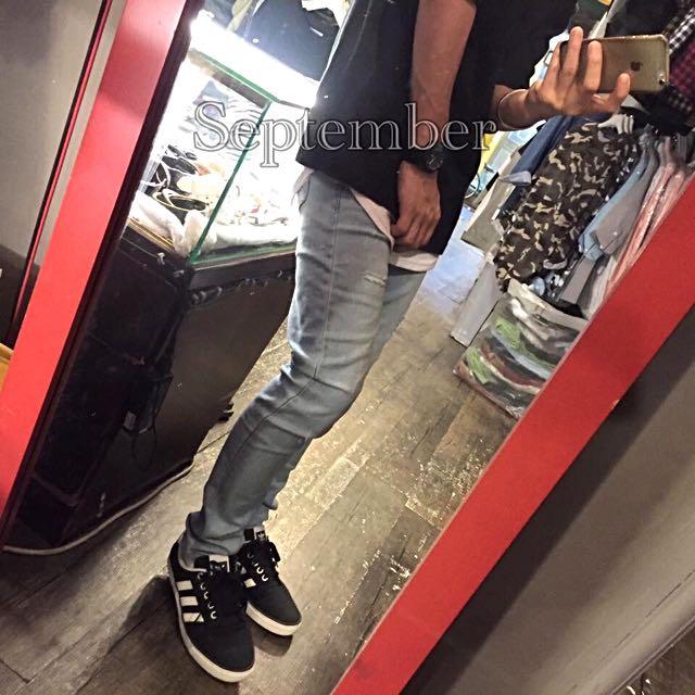 [超激瘦!!!!] 韓標窄版刷色彈性牛仔褲