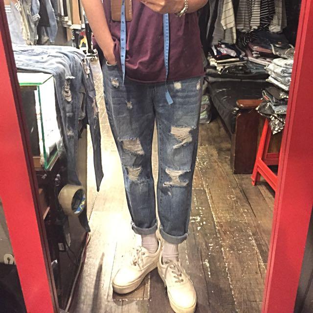 [春夏九分褲!!!!] 超強刷破淺色九分牛仔褲