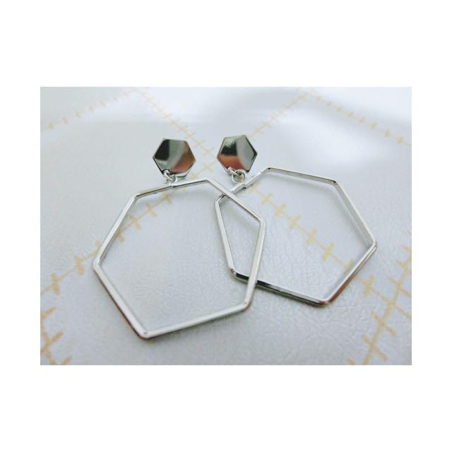 ✨全新 六角菱形耳環✨