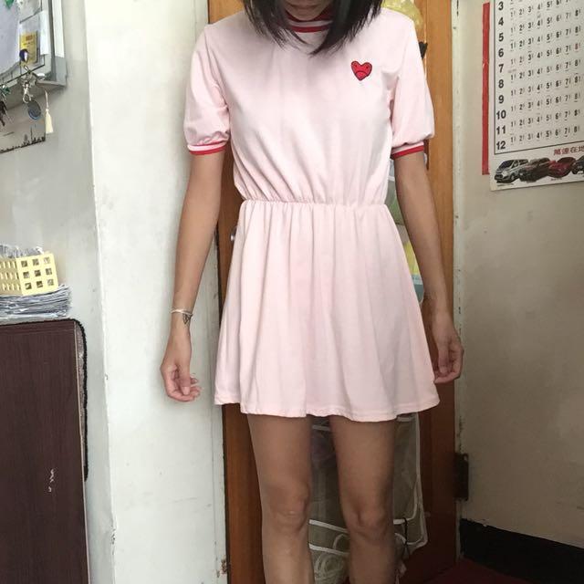愛心 洋裝 裙