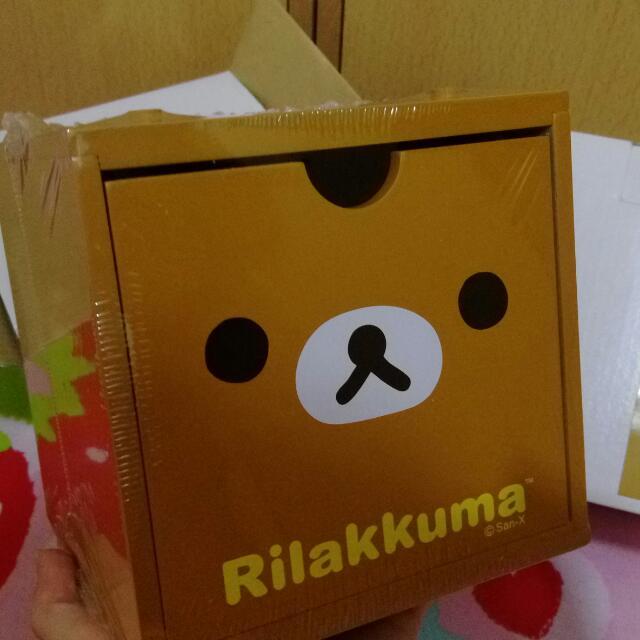 彩色積木盒 收納盒 大臉款 Rilakkuma 拉拉熊 懶懶熊 輕鬆熊 鬆弛熊 啦啦熊