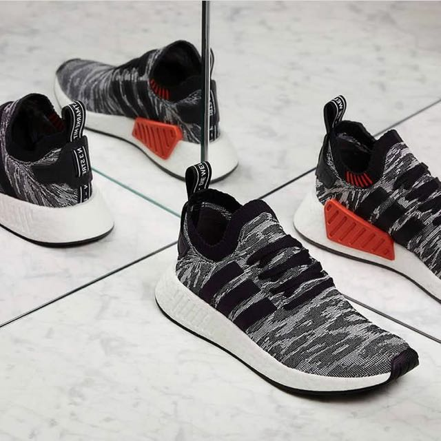 Adidas Nmd R2 Pk Black Orange SALE