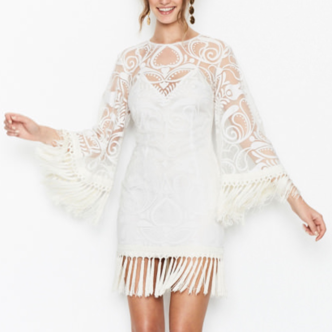 Alice McCall - Rhiannon Mini Dress - Ivory - Size 10 - BNWT - RRP $390