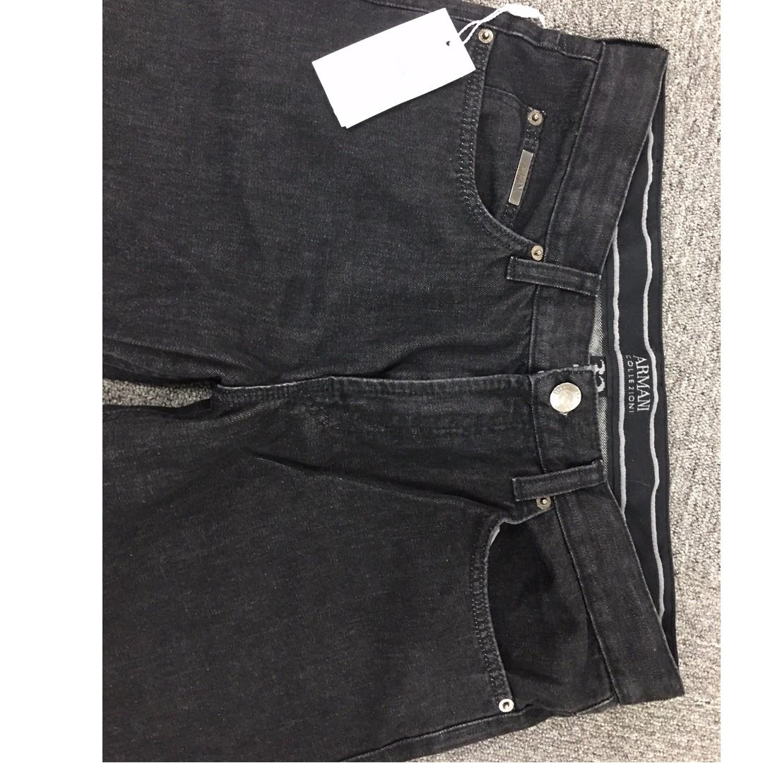 Armani Collection Slim straight Jeans Size 32X34  Color: Dark Grey, almost black
