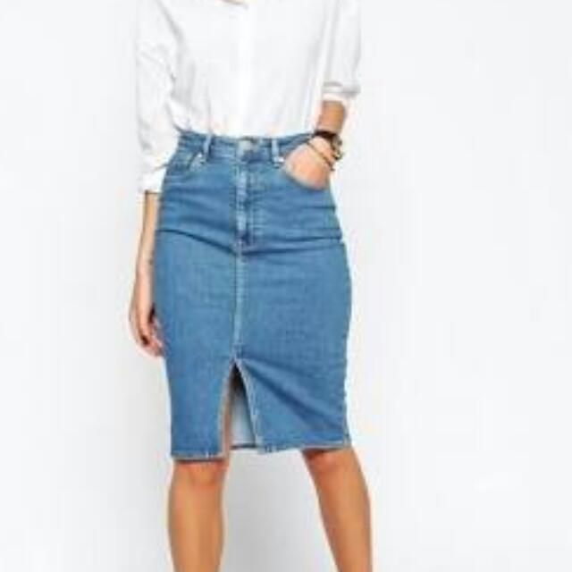 Asos Denim Skirt Size 8