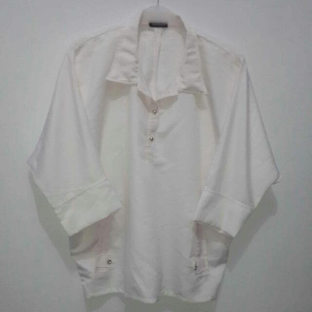 [ATASAN] Kemeja Kalong Putih Gading