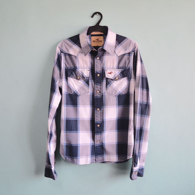 AUTHENTIC Hollister Plaid Button Down Shirt
