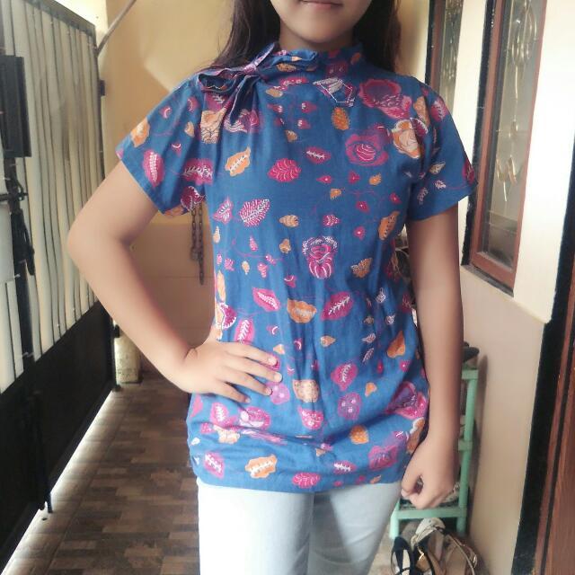 Baju Batik Blue