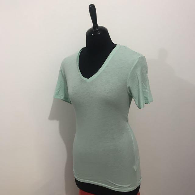 Bershka Green Shirt