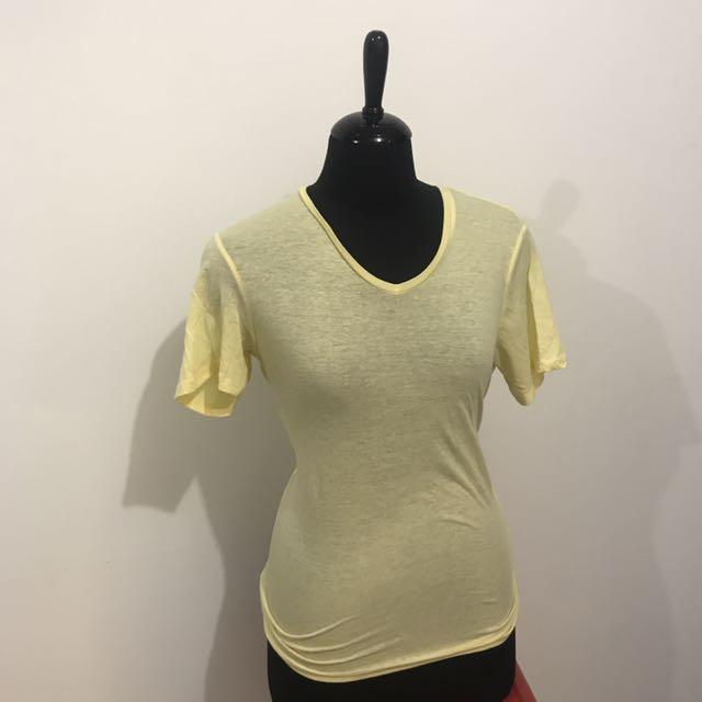 Bershka Yellow Shirt