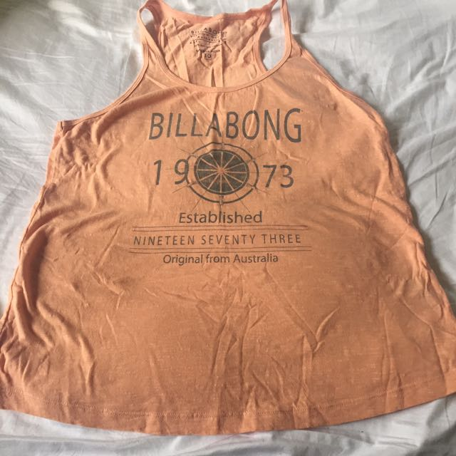 Billabong Size 10 Peachy Singlet