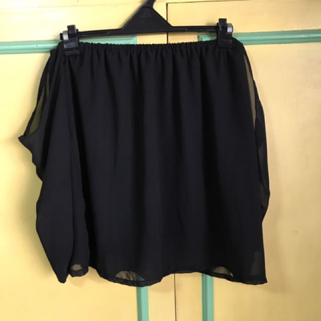 Black Chiffon Off Shoulder
