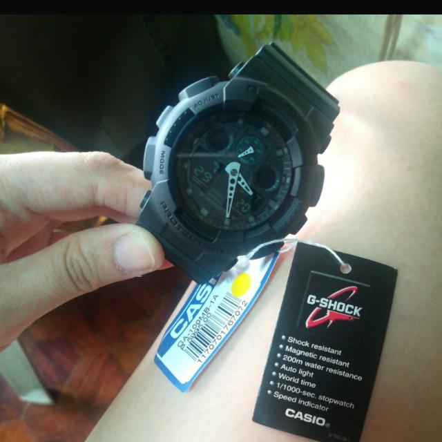 Original Casio Black GShock - GA-100MB-1A