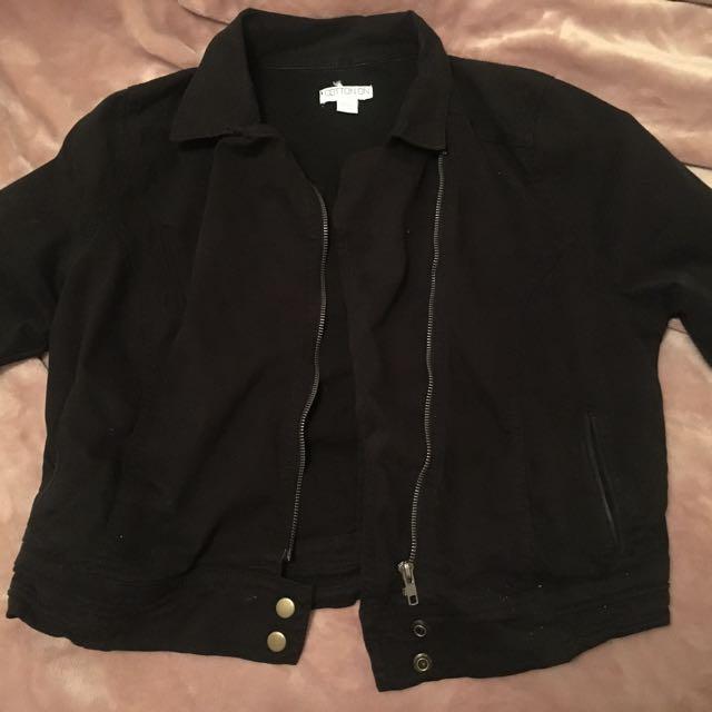 Black waist length jacket