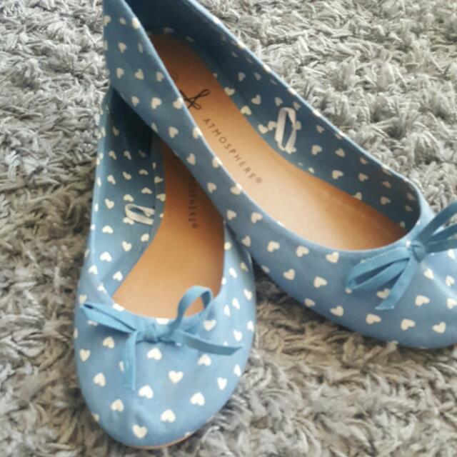Blue Heart Flats