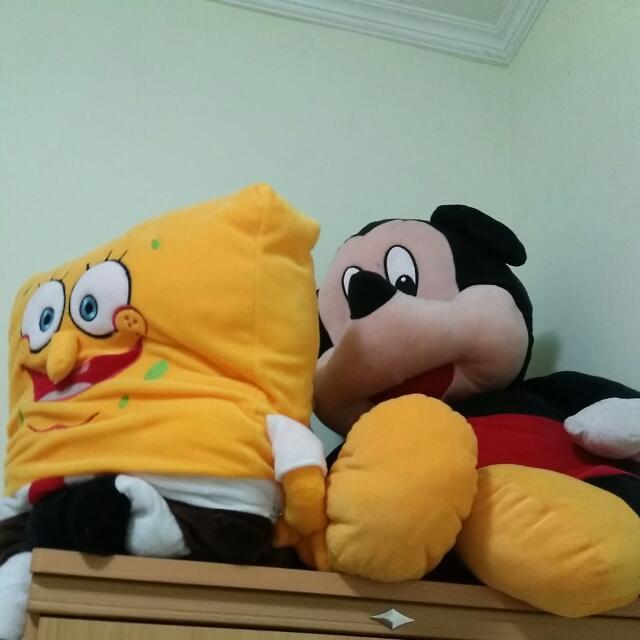 BONEKA JUMBO BISA BELI LANGSUNG 2 ATAU SATUAN, Mickey 170k, Spongebob 180k #JualMainanAnak