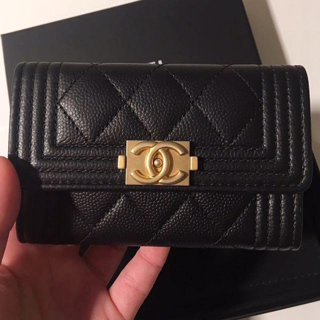 3303beade03f56 Boy Chanel Cardholder 歐洲代購現貨一個, Luxury, Bags & Wallets on Carousell