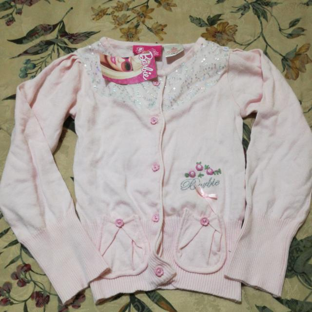 Brand New Barbie Pink Knit Cardigan