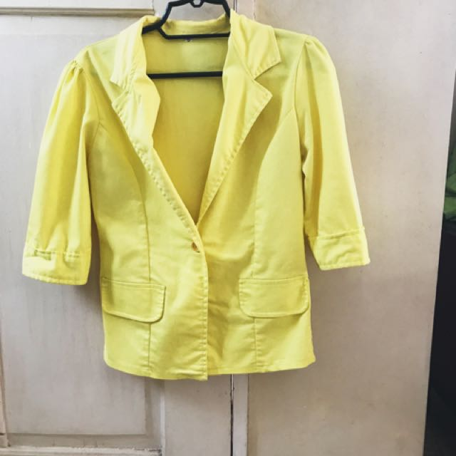 Candy Colored Blazer - Yellow