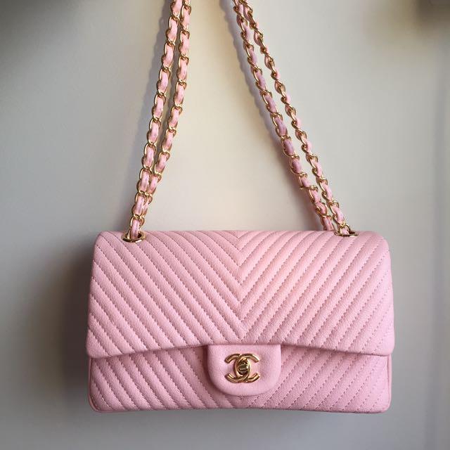 Chanel Chervon Pink Flap