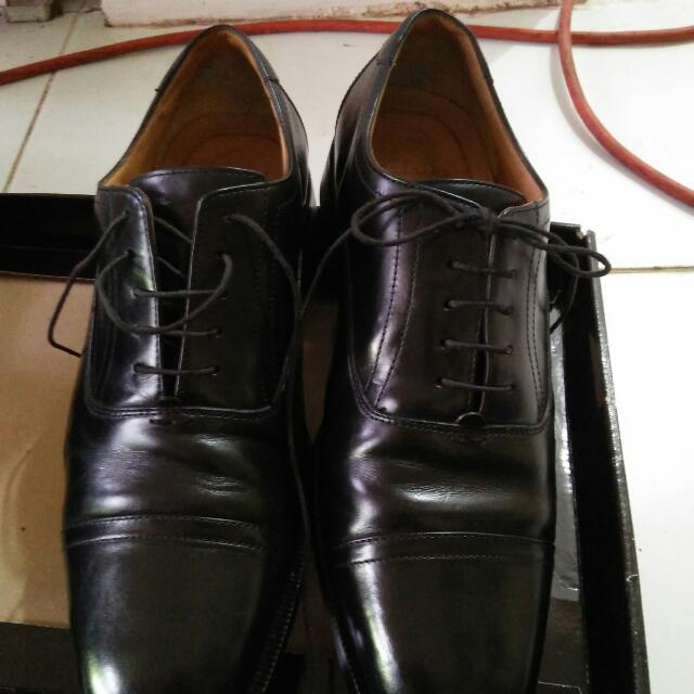 Repriced Clark Orig.black Leather Shoes