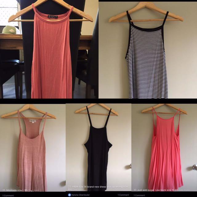 Clothes Bundle.. 3 Tops 2 Dresses