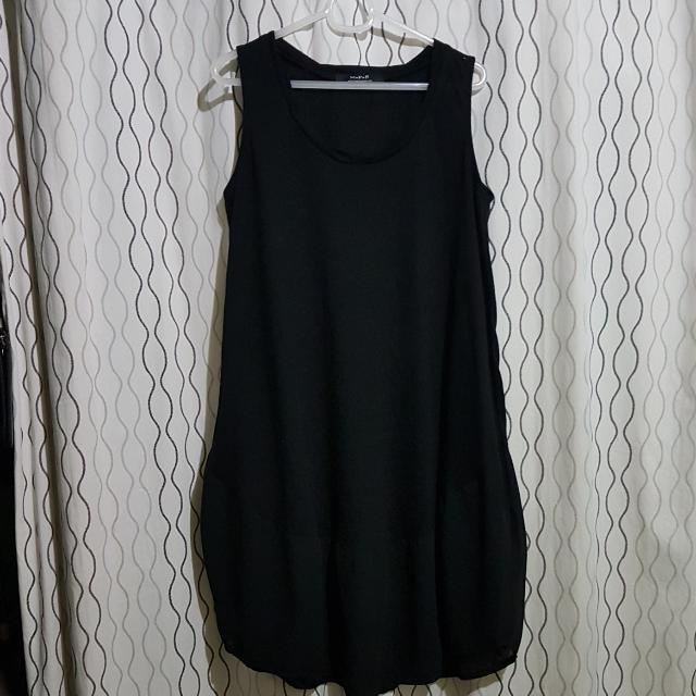 REPRICED. Cotton Black Dress