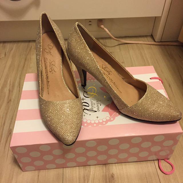 D+af金蔥跟鞋