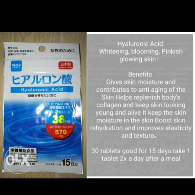 Diaso Japan Whitening,,Collagen and Diet Tablets