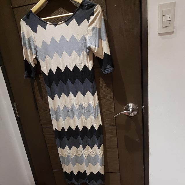 Dorothy Perkins Chevron Bodycon Dress (For Date Night)