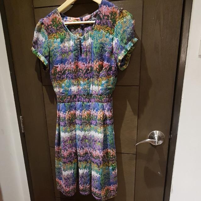 Dorothy Perkins Puff Sleeve Floral Dress (For Weekends)