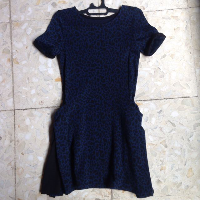 Dress Blue Leopard