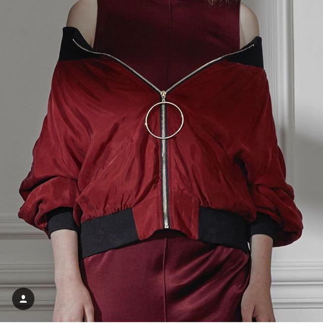 Eclect Burgundy Bomber