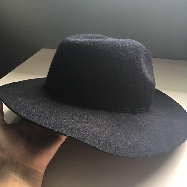 F21 Black Wide Brim Hat