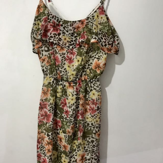 Floral Dress Bershka