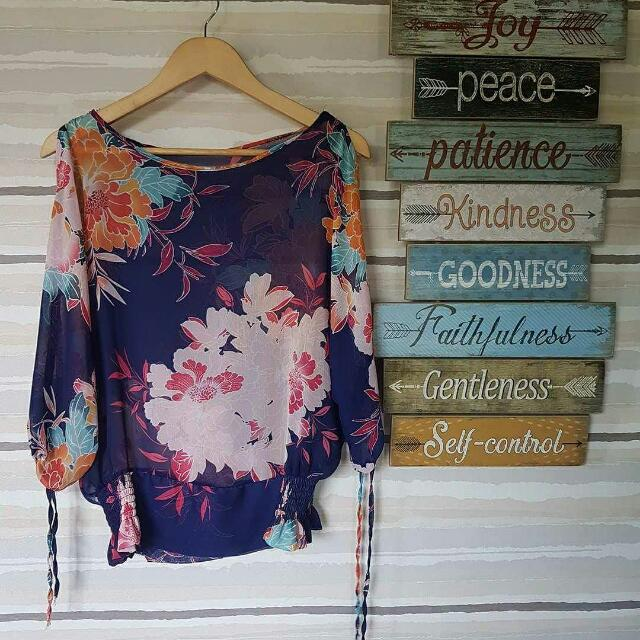 Floral Jasmine Sleeve Top